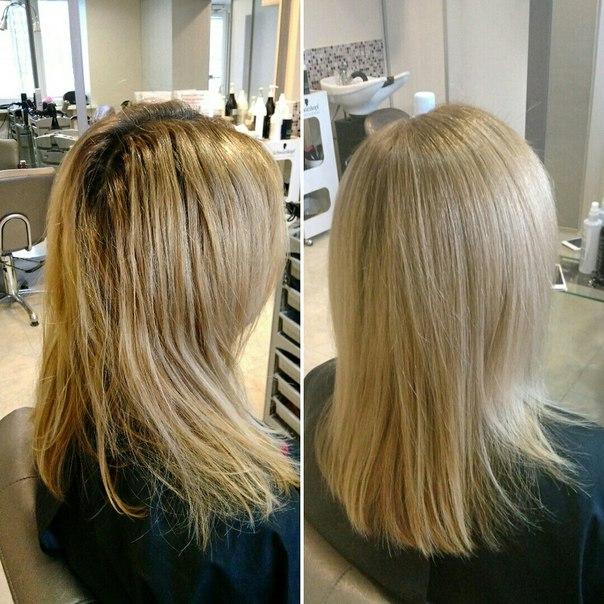 «Ботокс для волос» во время процедуры окрашивания
